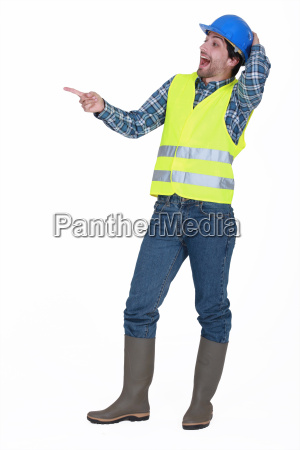 tradesman laughing