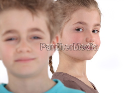 young boy and girl
