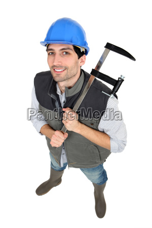 builder with a clamp