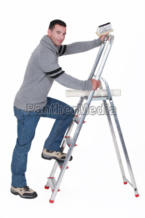 paperhanger with ladder