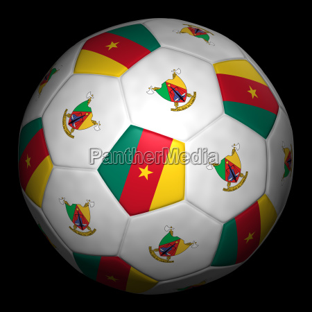football with flag cameroon
