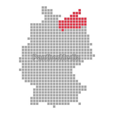 pixel map german federal states mecklenburg