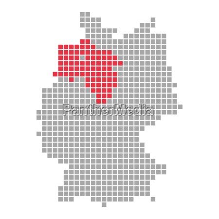 pixel map german states lower saxony