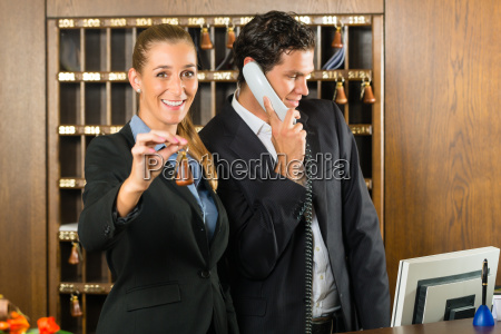 reception at the hotel receptionist