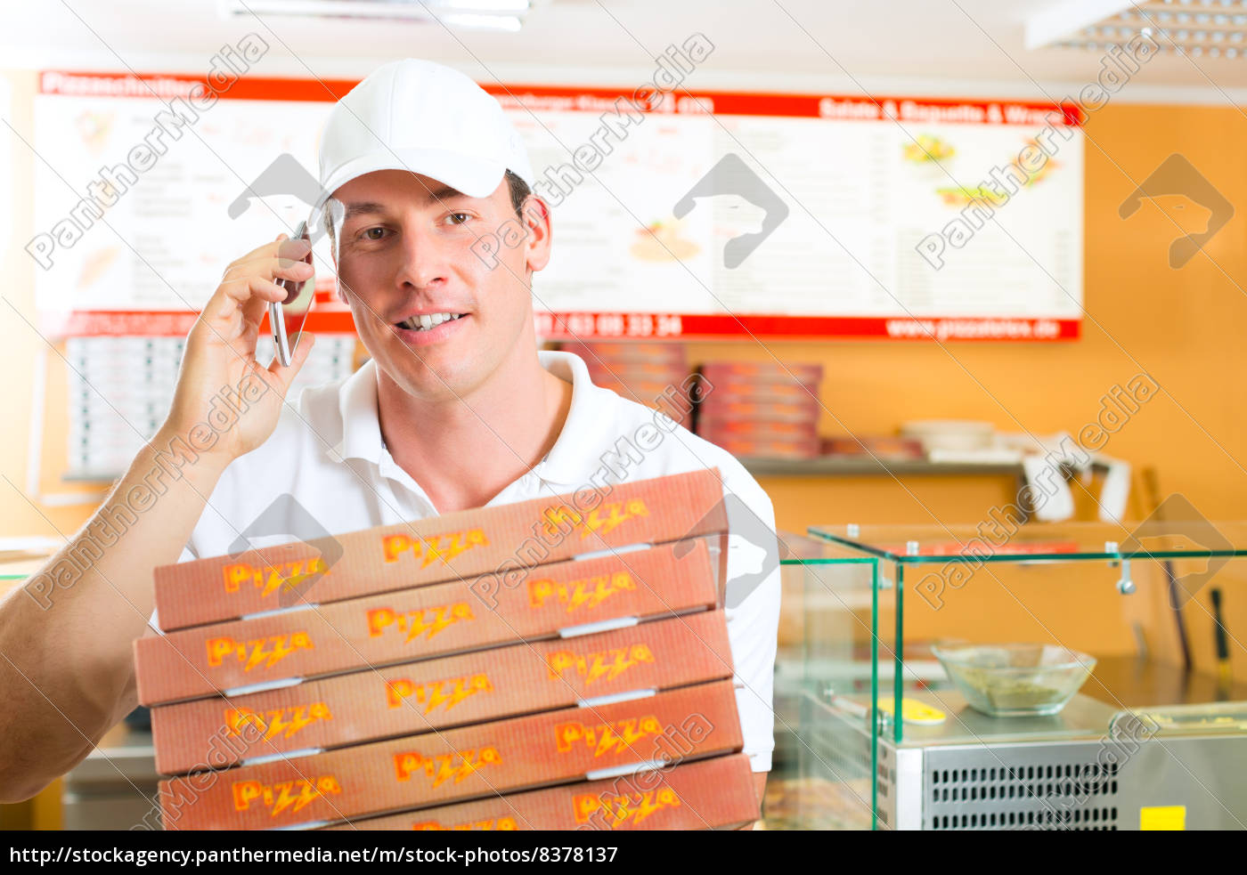delivery, service, -, man, with, pizza - 8378137