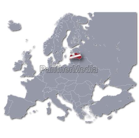 europakarte latvia