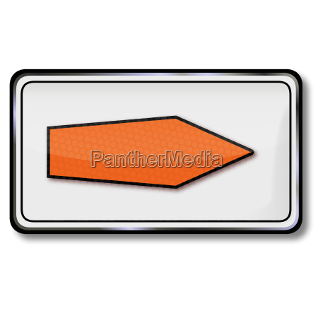 arrow sign orange direction highway logistics