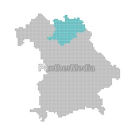 pixel map districts of bavaria oberfranken