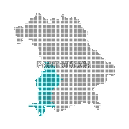 pixel map districts of bavaria swabia