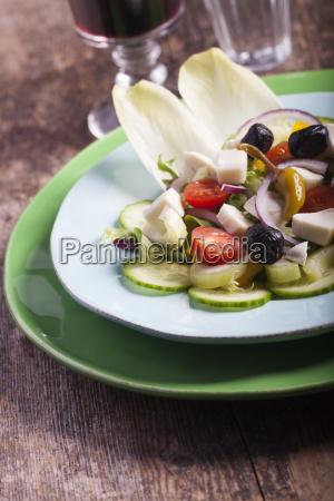 close up of a fresh salad