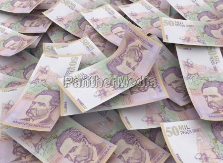 50000 colombian pesos financial concept