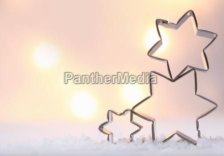 atmospheric christmas star background