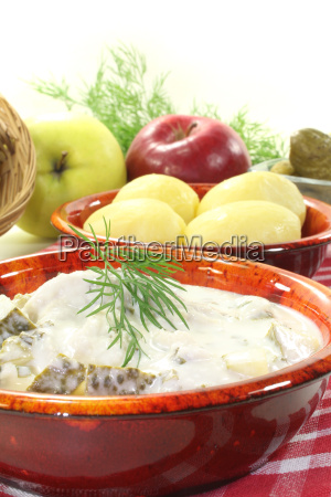 marinated cream herring