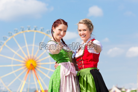 young women at the spring festival
