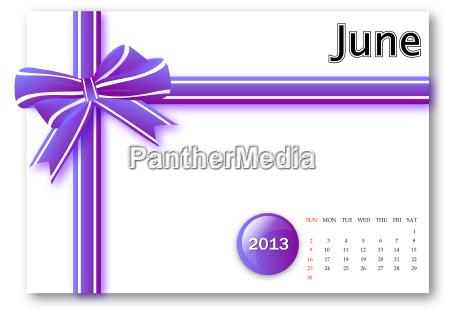 june of 2013 calendar