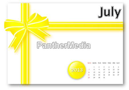 july of 2013 calendar