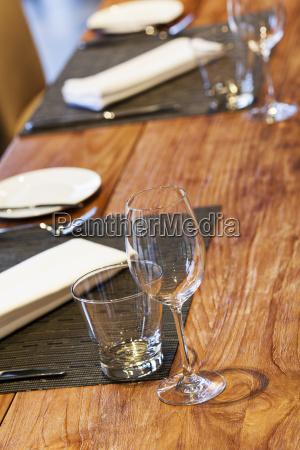 served table vertical shot