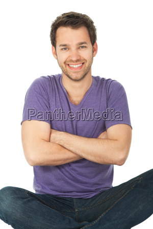 young man sitting