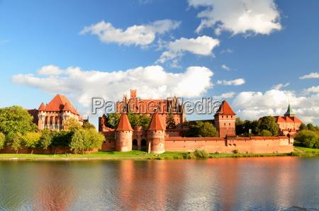 malbork castle in pomerania region poland
