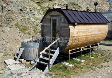 sauna hut in the rear schnalstal