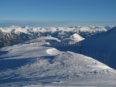 beautiful view from the pizol skiing