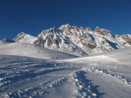 beautiful winter scenery in the pizol