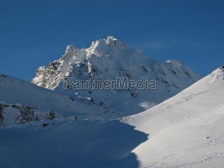 beautiful mountain named pizol winter