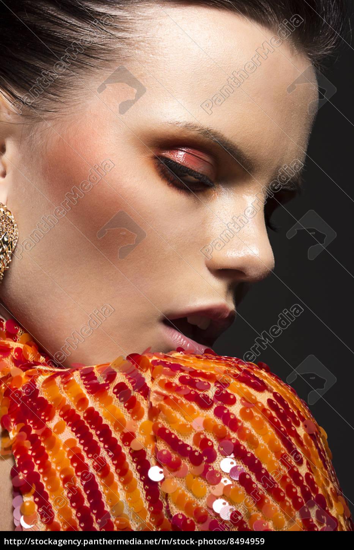 stylish, gorgeous, woman, portrait., elegant, dress. - 8494959