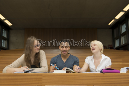 student group in the lecture hall