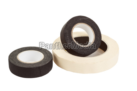 black and white insulating tapes