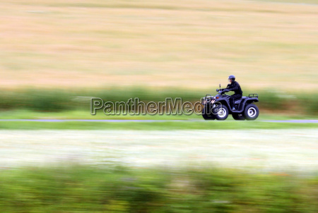 panning shot of a fast moving