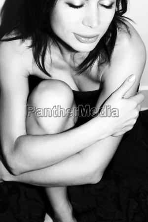beautiful women in black and white