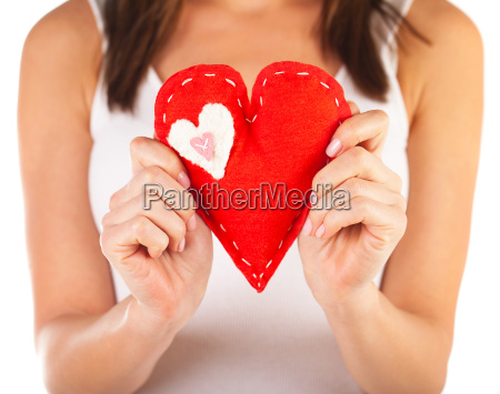 red heart shaped toy