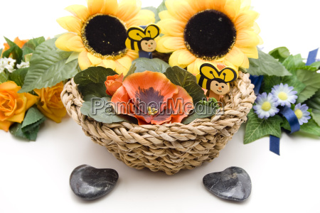 sunflower with stone heart