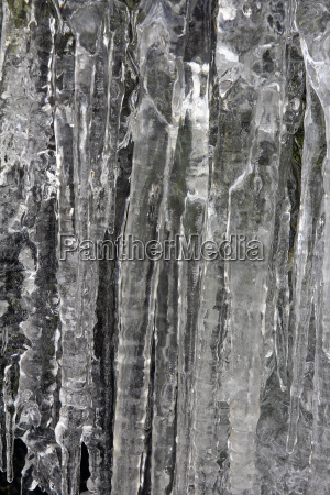 icicles on mountain rocks