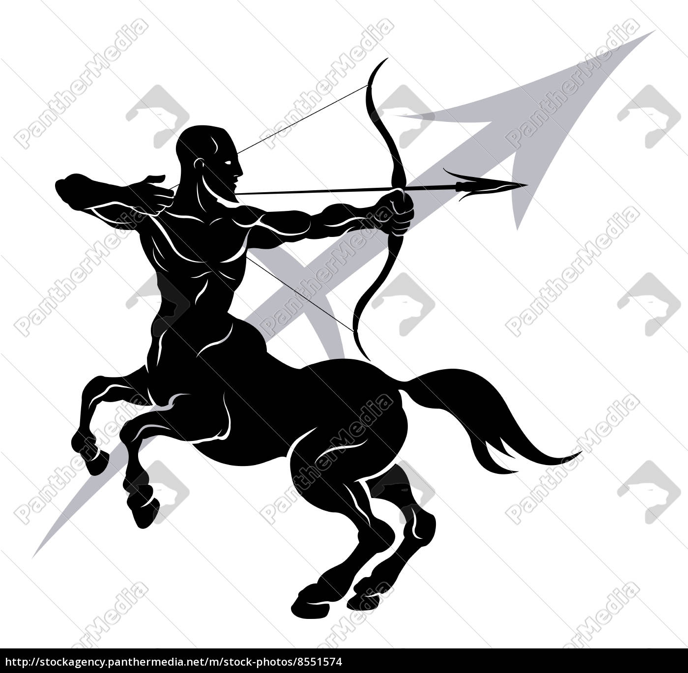 Stock image 8551574 - Sagittarius zodiac horoscope astrology sign