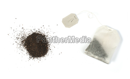 tea bag with white label