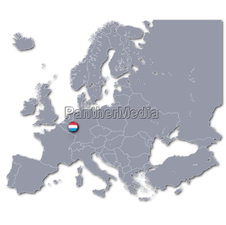 europe map luxembourg