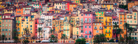 provence colorful village houses menton