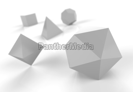 platonic solids in 3d precious