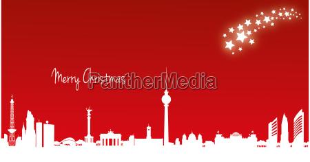 berlin christmas card 21 x 11