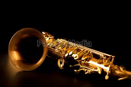 tenor sax golden saxophone macro selective
