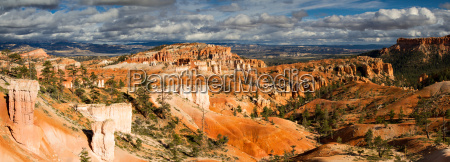 panorama of bryce canyon in the