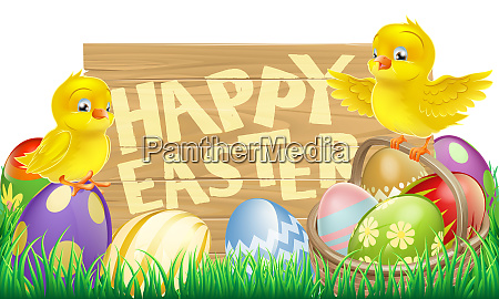 isolated easter sign