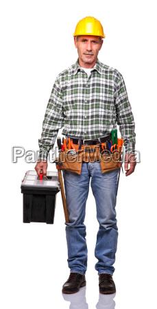 handyman with toolsbox