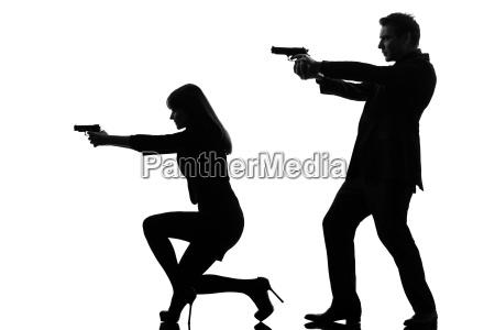 couple woman man detective secret agent