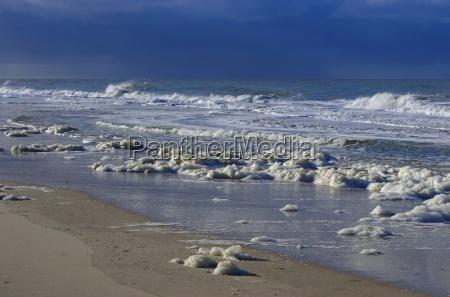 waves in the sea north sea