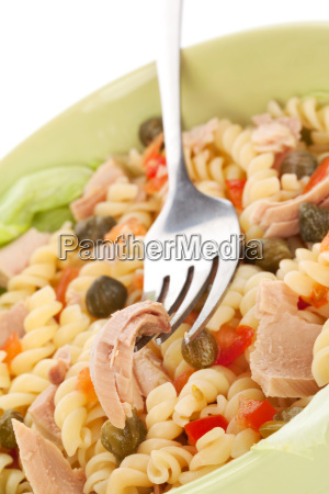 tuna pasta background