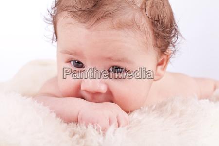 little sweet baby portrait baby newborn