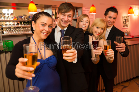 group of friends celebrating